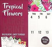 Tropical Flowers LARGE PRINT 2018 Wall Calendar 16 Months [並行輸入品]