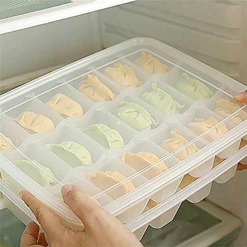 QIN 餃子の収納ボックス ギョーザケース 冷蔵ボックス キ...
