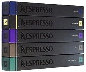 NESPRESSO ネスプレッソ カプセル コーヒーストロングタイプ5種×10カプセル×=50カプセル並行輸入品