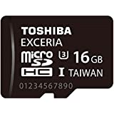 TOSHIBA microSDHCカード 16GB UHS-I U3対応 (最大読出速度95MB/s 最大書込速度60MB/s) (国内正規品) MUH-B016G