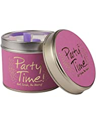 Lily-Flame Party Time Scented Candle Tin (Pack of 6) - ユリ炎パーティーの時間香りのキャンドルスズ (Lily-Flame) (x6) [並行輸入品]