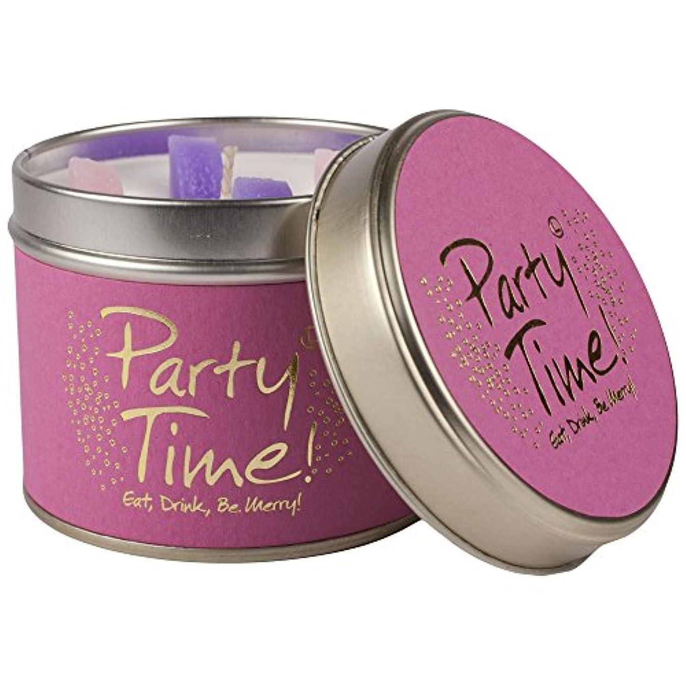 乳白色スーパー北へユリ炎パーティーの時間香りのキャンドルスズ (Lily-Flame) - Lily-Flame Party Time Scented Candle Tin [並行輸入品]