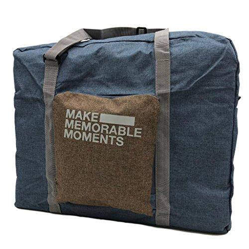 (DauStage) トラベル ボストンバッグ コンパクト 折りたたみ式 ポケッタブルボストンバッグ 機内 持ち込み (06,ブルー)