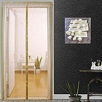 網戸 Velcro 磁気スクリーン ドア メッシュ フルフレーム velcro 昆虫スクリーン メッシュ-E 80x220cm(31x87inch)