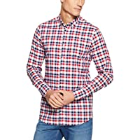 Tommy Hilfiger Men's Slim Fit Small Check Long Sleeve Shirt