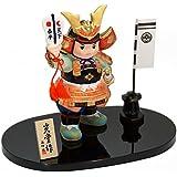 五月人形 陶器 錦彩初陣若大将 ポストカード特典付オリジナル五月人形 ミニ 兜 兜飾り 幅9cm