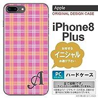 iPhone8Plus スマホケース ケース アイフォン8プラス イニシャル チェックB ピンク nk-ip8p-434ini R