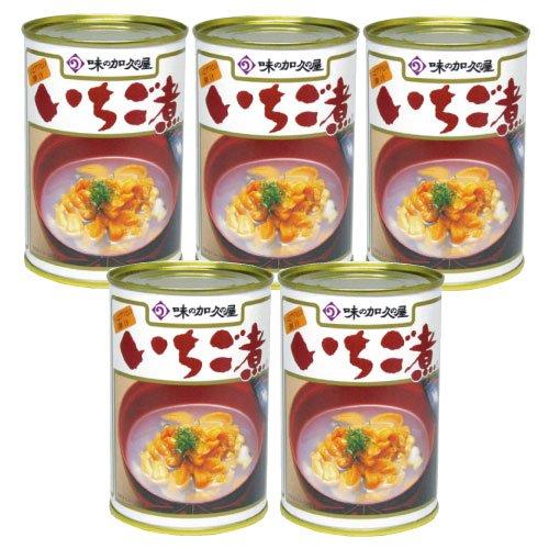 ウニとアワビの潮汁 元祖いちご煮 415g×5缶セット 【味の加久の屋】【青森名産品】