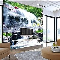 Lixiaoer カスタム壁画3D研究室リビングルームの寝室の背景壁紙風景画滝壁紙壁画-350X250Cm