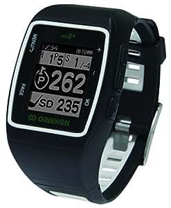 GreenOn(グリーンオン) ゴルフナビ GPS ザ・ゴルフウォッチ mk2+ マーク2プラス グリーンアタック画面機能付  ブラック GWP-BW