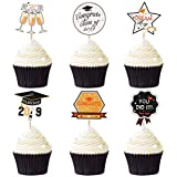 BESTOYARD 卒業ケーキトッパークリエイティブケーキカップケーキピック12本ケーキデコレーション卒業パーティー用品(6スタイル、各2)
