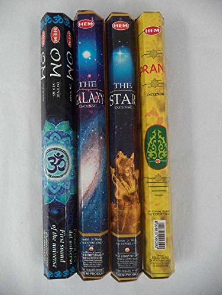 治世巻き取りこれら裾om、Star、Galaxy、Prana 80 Incense Sticksさまざまなコンボ4 x 20スティック
