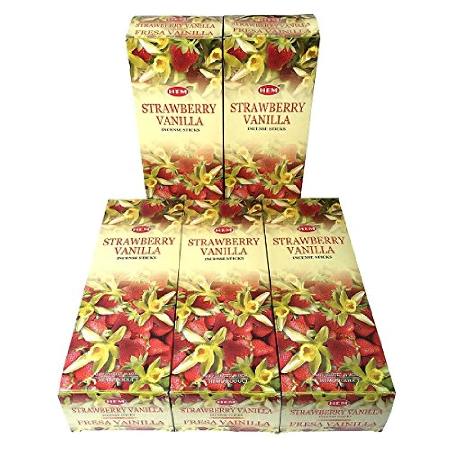 シルエット無心フォローHEM ストロベリーバニラ香 スティック 5BOX(30箱)/HEM STRAWBERRY VANILLA/ インド香 / 送料無料 [並行輸入品]