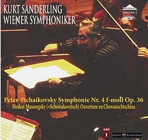 SSS0088 チャイコフスキー:交響曲第4番/ムソルグスキー:「ホヴァンシチナ」前奏曲 クルト・ザンデルリンク(指揮)ウィーン交響楽団
