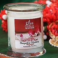 Diyaキャンドル100%大豆ワックスエコアロマセラピーScented Candle–5.5オンス/ 12オンス–から選択8Scents 12 Oz. Jar BangaloreWedding-12oz