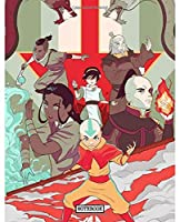 Notebook: Soft Glossy Wide Ruled Notebook The Last Airbender Aang Katara Sokka Drawing Photo Artwork with Ruled Lined Paper for Taking Notes Writing Workbook for Teens and Children Students School Kids