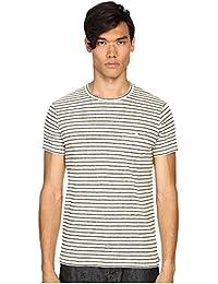 (トッドスナイダー) Todd Snyder メンズ トップス Tシャツ Striped Weathered Button Pocket Crew Tee [並行輸入品]