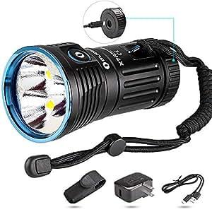 OLIGHT(オーライト) X7R MARAUDER ハンディライト 12000ルーメン Type-C充電 LED懐中電灯 XHP70-CW灯玉 IPX7 調光&近接センサー 4*18650電池