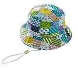 (トヨベイ)Toyobuy テンガロン ハット キッズ 帽子 日よけ ユニセックス バケットハット サファリハット 赤ちゃん 顎紐 グリーン 46