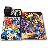スーパーマンジャンボカラーリング&アクティビティブックW / 2文字スタンドUPS、バットマン、Justiceリーグメモ帳メモパッド計算機2鉛筆削り器スーパーマン消しゴム