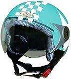 ダムトラックス(DAMMTRAX) バイクヘルメット ジェット ダムキッズ ポポGT BLUE STAR キッズサイズ(54CM~56CM)