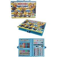 【MINIONS】ミニオンズ アートセット 64P 色鉛筆 絵の具 クレヨン (ブルー)
