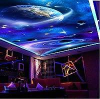 C564 巨大 3D フロアマット 1.2m*2m* 宇宙 惑星 星 空 月 風景 景色 リフォーム 防音 断熱 滑り止めシート 床 壁 天井 はがせるシール