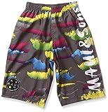 (マウイアンドサンズ)MAUI&Sons MAUI&Sonsカスレボーダープリントサイドロゴ男児サーフパンツ 2201-626 161GRY グレー 160