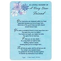 "Xpress Yourself Loving Memory Graveside Memorialカード&ホルダー5.75X 4""リレーションFriends etc–a Very Dear Friend 358016"