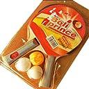 安い 初心者/中級用 卓球 ピンポンセット(2本のペンホルダーラケット 卓球ラケット 3本の卓球ボール)