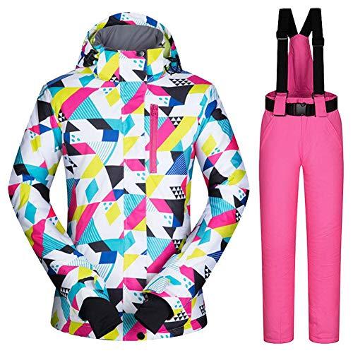 Easylifee スノーボードウェア スキーウェア 上下セット レディース 防風 保温 アウター ジャケット パンツ