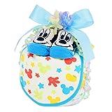 おむつケーキ ディズニー 男の子 1段 / 出産祝い 人気 日本製 ミッキー (パンパース Sサイズ)