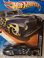 Hot Wheels 2011 Heat Fleet 8/10 Tail Dragger Lightning White and Blue Flames on Navy 98/244