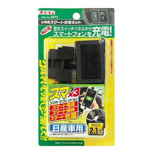 エーモン USBスマート充電キット (日産車用) 2872