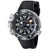 シチズン Citizen Men's BN2029-01E Promaster Aqualand Depth Meter Analog Display Japanese Quartz Black Watch 男性 メンズ 腕時計 【並行輸入品】