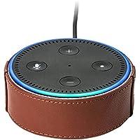 サンワダイレクト Amazon Echo Dot ケース 本革 2ndモデル/2017年発売モデル用 ブラウン 200-CASE001BR