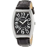[フランク三浦]FRANKMIURA 腕時計 零号機 グレコローマンスタイル400戦無敗 記念モデル 革ベルト ブラック FM00K-B