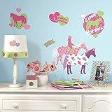 新しいHorses 44Big壁ステッカー女の子部屋装飾デカール子供ハート水玉ピンク