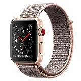 MQKT2J/A ピンクサンドスポーツループ Apple Watch Series 3 GPS+Cellularモデル 42mm(ウェアラブル端末)