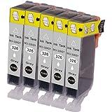 インク 【互換インク】 キャノン canon キヤノン BCI-326 5個パック(グレー) カートリッジ プリンターインク 汎用インク インクカートリッジ 純正 汎用