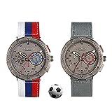 スポーツ腕時計2018 FIFA世界カップテーマ防水石英腕時計は、男性、タイムコード表、三眼腕...