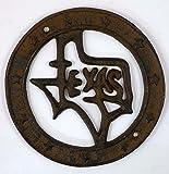 状態のテキサスCast Iron Wall Plaque