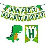 誕生日バナー 可愛い恐竜 動物 happy birthday 子供 大人 誕生日飾り 出産 100日お祝い 誕生日パーティー飾り付け カスタマイズ
