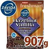 ZAVIDA ザビダ ヘーゼルナッツ バニラホールビーン コーヒー豆 907g フレーバーコーヒー