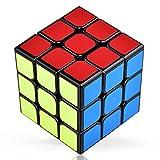 VAVACO スピードキューブ 【6面完成攻略書付き】 3x3x3 競技用 立体パズル 世界基準配色 黑素体 ポップ防止 回転スムーズ