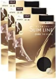 (アツギ)ATSUGI ストッキング SLIM LINE (スリムライン) 厚手 ひざ上丈ストッキング 〈3足組〉 F04050 480 ブラック 22~~25cm~