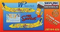 スカイラインモデルズ 1/144 ボーイングB737-300 ウェスタンパシフィック航空 シンプソンズ プラモデル SKY14403b