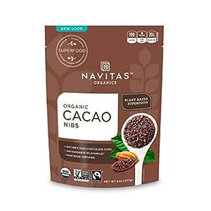 Navitas Naturals Organic Raw Cacao Nibs, 8-Ounce Pouches [並行輸入品]