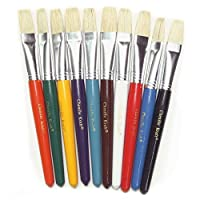 Chenille Kraft CK-5184 Flat Stubby Brushes with Natural Bristle 0.5 Height 6.75 Wide 10.5 Length (10 per Package) [並行輸入品]