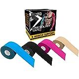 SOONGO日本直営店 キネシオ テープ 2巻入 伸縮性強い 汗に強い パフォーマンスを高める 通気性 FDA CE認定 (ブルー)